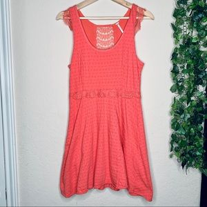 Free People Coral Spring midi dress | size small